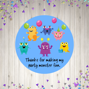 Boys Monster party mock up