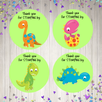 Dinosaur birthday mock up