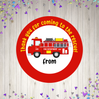 Firetruck birthday mock up