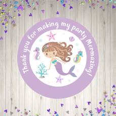 Purple Mermaid mock up