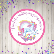 Round pink unicorn mock up